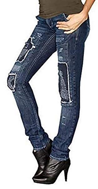 Pantalones Vaqueros Con Parches de Laura Scott en azul ...