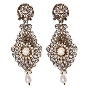 Mela Kundan Ethnic Earring, Push Closure