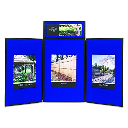 Quartet SB93513Q Show-It! Display System, 72 x 36, Blue/Gray Surface, Black Frame by Quartet