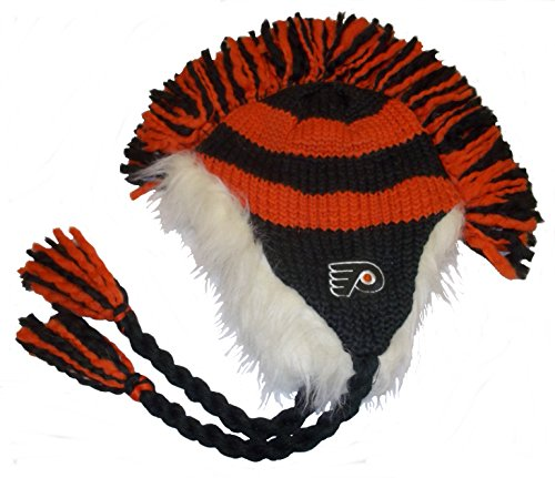 (CCM Philadelphia Flyers Mohawk Knit Vintage Hockey Hat - KF39Z)