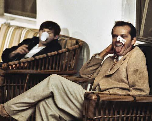 Jack Nicholson in Chinatown clowning on set with Director Roman Polanski 11x14 Aluminum Wall Art