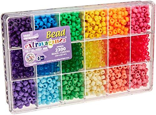 (Beadery Bead Extravaganza Bead Box Kit, 19.75-Ounce, Pastel and Jelly)