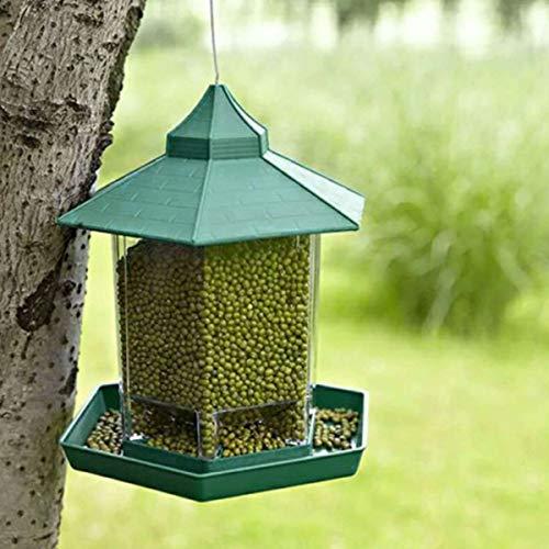 Bird Cages Nests - Waterproof Gazebo Hanging Wild Bird Feeder Villa Outdoor Feeding Garden Decors - White Heart Tent Gazebo Bird Feeder Rear Nests Bird Bird Feeder Feeder Feeder Glove Alum ()