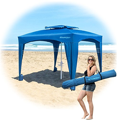EasyGO Products Weight Portable & Comfortable Cabana with Uv 50+ Protection, Navy ()