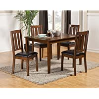 Alpine Furniture 5248 5 Piece Pratt Dining Set 5