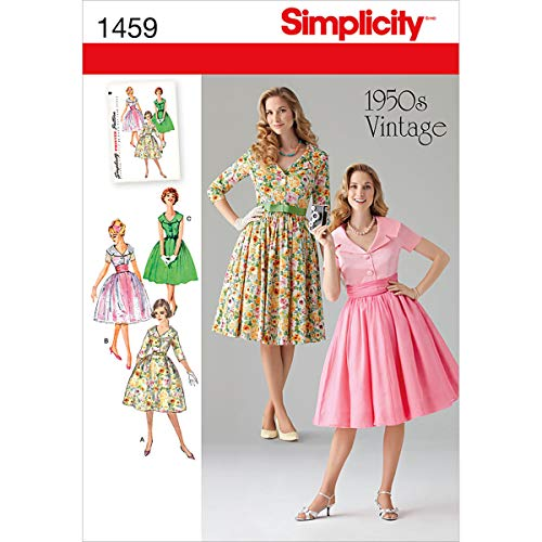Simplicity 1459 Vintage Fashion 1950's Women's Dress Sewing Pattern, Sizes 8-16 ()