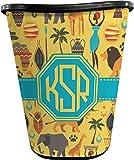 RNK Shops African Safari Waste Basket - Single Sided (Black) (Personalized)