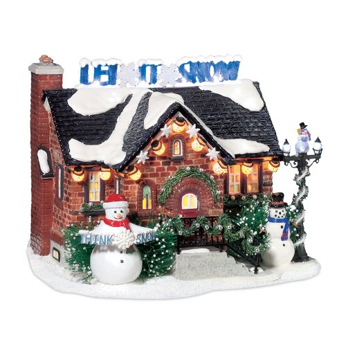 Department 56 Snow Village The Snowman House Lit Building