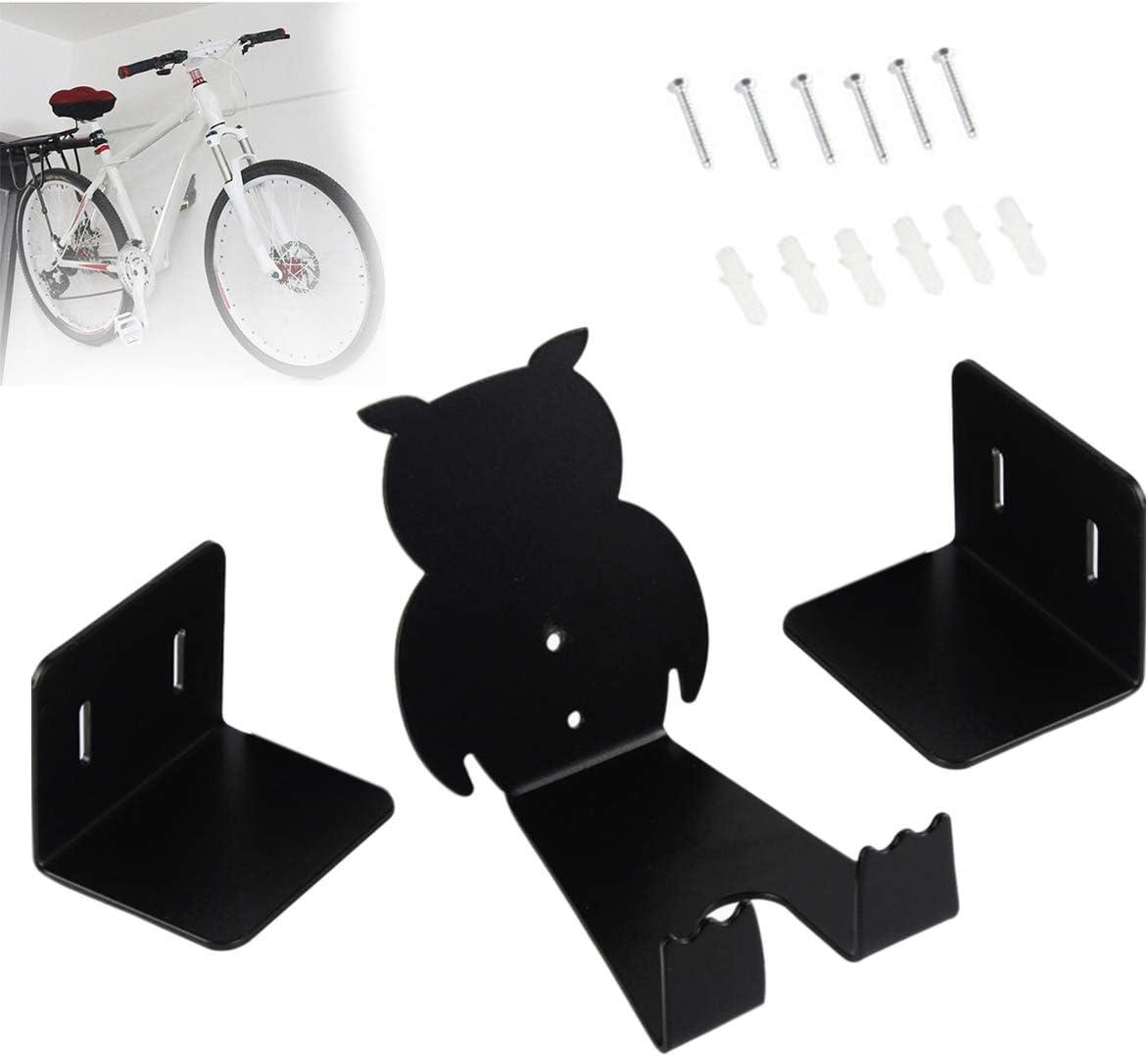 Soporte de pared para bicicleta, Pedal a soporte de pared Gancho para pedal Soporte de montaje en pared de metal Soporte de montaje en pared para estacionamiento (1 juego)