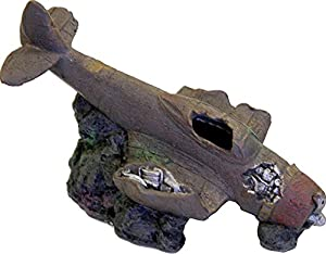 Exotic Environments Sunken WWII plane with Cave Brown
