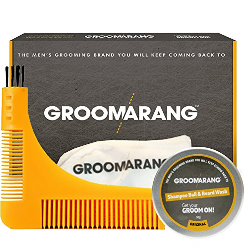 Groomarang Pro Groom Collection Beard Comb Catcher Shampoo Wash Ball 50g