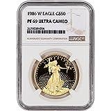1986 W American Eagle Gold Proof (1 oz) Large Label $50 PF69 NGC UCAM
