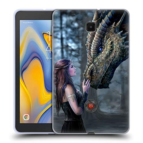 Official Anne Stokes Once Upon A Time Dragon Friendship Soft Gel Case Compatible for Galaxy Tab A 8.0 (2018)