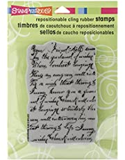 Stampendous Rubber Cling Stamp 4.75-inch x 4.5-inch, Vintage Note