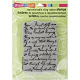 Stampendous CRP249 Cling Rubber Stamp, Vintage Note