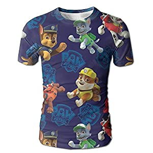 Discco Fashion Sublimated 3D Full Men's Paw-Patrol Tees White Size L