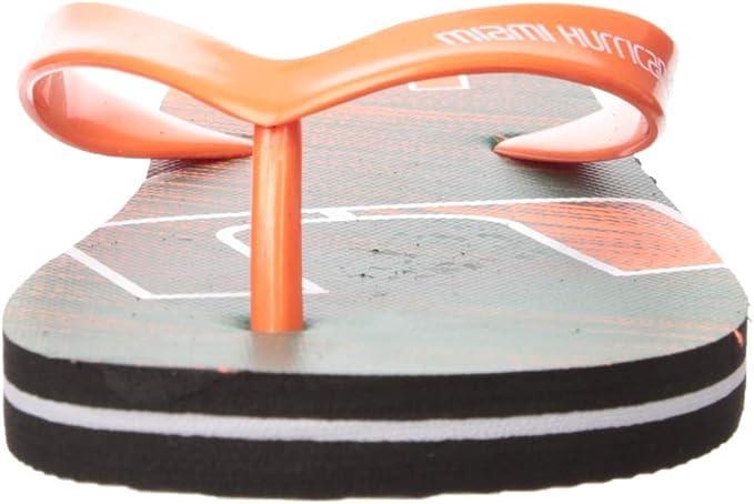 Team Color NCAA Miami Hurricanes Unisex Diagonal Stripe FADEMIAMI Unisex Diagonal Stripe Fade FLIP Flop Medium M