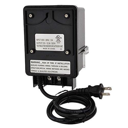 LEDwholesalers 12V AC 150-Watt Landscape Lighting Transformer with Photo Sensor and Rotary Control Timer Switch, UL-Listed, 3268-12V by LEDwholesalers (Image #2)