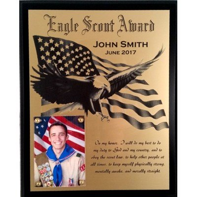 Eagle Scout Plaque Award/Recognition - Customized by Lasercrafting