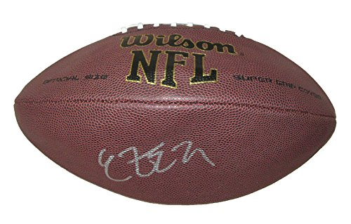 Ezekiel Elliott Autographed Wilson NFL Football, Dallas Cowboys, Ohio State Buckeyes, 2016 NFL Draft, Pro (Dallas Cowboys Autographed Pro Football)