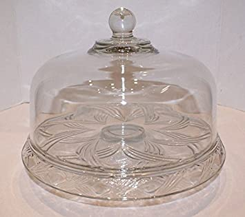 Anchor Hocking Clear Glass Swirl Pedestal Footed Cake Plate Stand with Dome Cover & Amazon.com   Anchor Hocking Clear Glass Swirl Pedestal Footed Cake ...