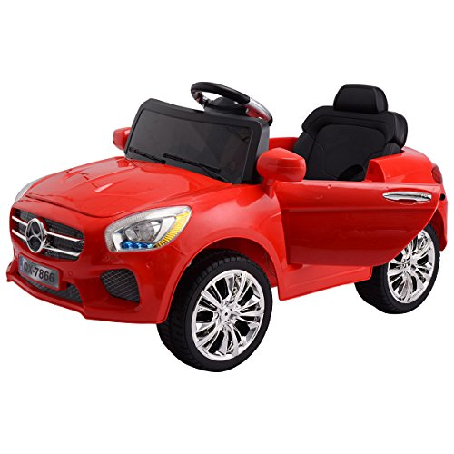 Best Deals! Costzon Red 6V Kids Ride On Car RC Remote Control Battery Powered w/ LED Lights MP3 Red