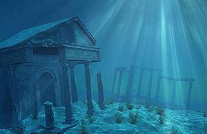 "SPORN Aquarium Background, Static Cling, Ruins 36"" x 18"""