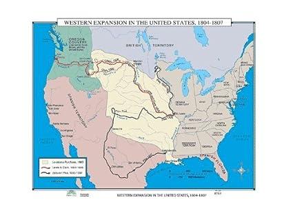Amazoncom World History Wall Maps Western Expansion In Us - Us-western-expansion-map