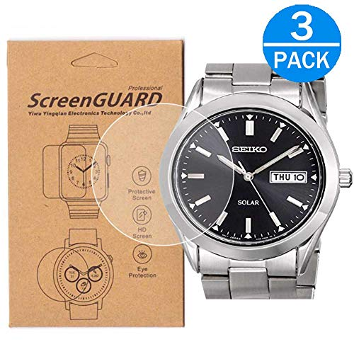 [3-Pack] for Seiko SNE039 Screen Protector,Full Coverage HD Clear Anti-Bubble and Anti-Scratch