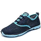 Aleader Women's Quick Drying Aqua Water Shoes Blue 10 D(M) US