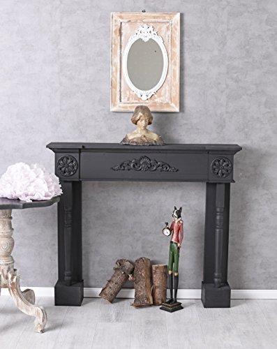 Consola de chimenea Casa De Campo Estufa Negro Chimenea decorativa Manto de chimenea revestimiento de chimenea