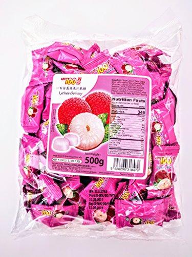 Cocoaland Lot100 Lychee Lichee Litzhi Litchi Gummy Gummi Candy 17.6 oz - Plaza Garden Mall
