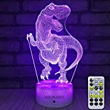 INSONJOHY Kids Night Lights Bedside Lamp 7 Colors Change Remote Control Timer 3D Night Light Kids...