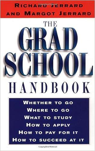 The Grad School Handbook Richard Jerrard 9780399524165
