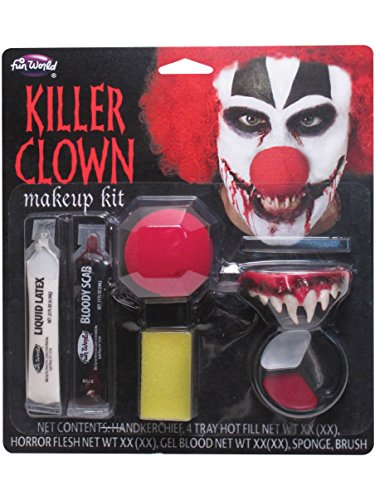 Killer Clown Makeup Kit Costume -