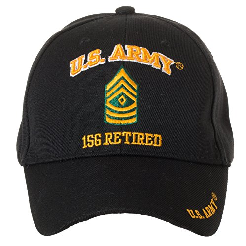 Military Sergeant Rank (Artisan Owl Officially Licensed US Army Retired Baseball Cap - Multiple Ranks Available! (First Sergeant))