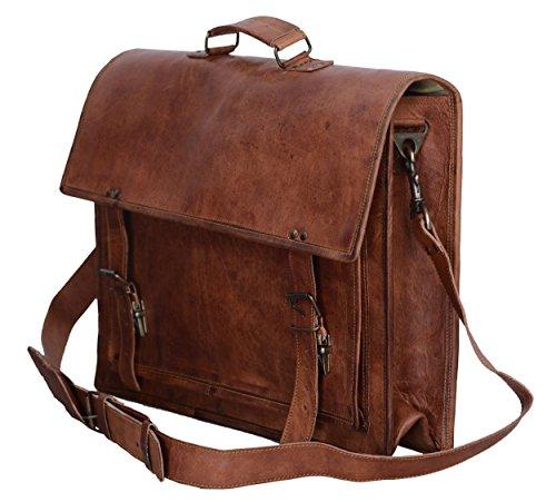 Komal's Passion Leather 18 Inch Sturdy Messenger Bag / Shoulder Bag/...