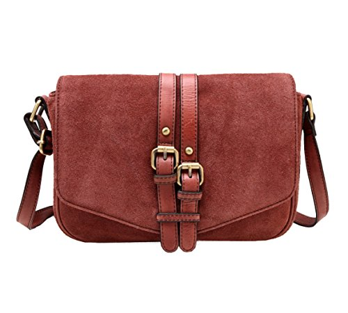 Jeanie Suede Crossbody Wine Vicenzo Handbag Leather Leather Uqwn750O