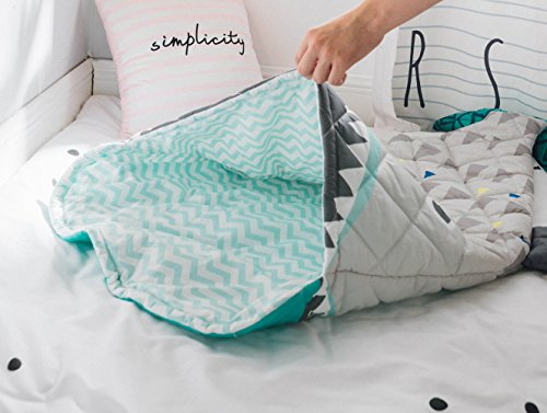 "PISSCO Kids 100% Cotton Shark Blanket, Soft and Warm Sleeping Bag for Boys and Girls, 59""X27"" by PISSCO (Image #2)"