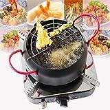 Funwill 22cm Japanese Fried Tempura Pot For Household Fryer