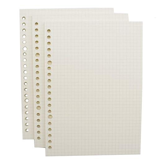Mengger recambios agendas A5 180 hojas 20 anillas Papel Punteado diarios archivador para carpeta sueltas planificador calendarios Insertos de Libreta ...