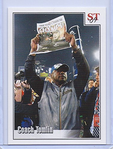 COACH MIKE TOMLIN 2009 STEELERS SUPER BOWL XLIII CHAMPIONS TRIBUTE CARD! #3 OF 9!