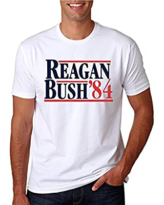 Hot Ass Tees Adult Unisex Reagan Bush 1984 Shirt Republican Presidential Campaign T-Shirts Funny Novelty Parody T-Shirt $10 Sale