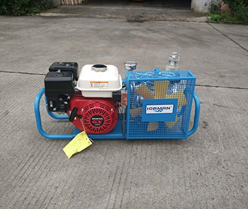 IORMAN Original Gas-Powered Air Compressor, Diesel Driven with Honda GX Engine, 5.5-HP High Power Air Fill Station for Scuba Diving SCBA Breathing