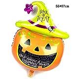 Lannmart New 1 pcs 10 Styles Black Cat Pumpkin Bat Skull Halloween Eve Foil Balloons Decor Inflatable Toys Helium Balloon Party Supplies