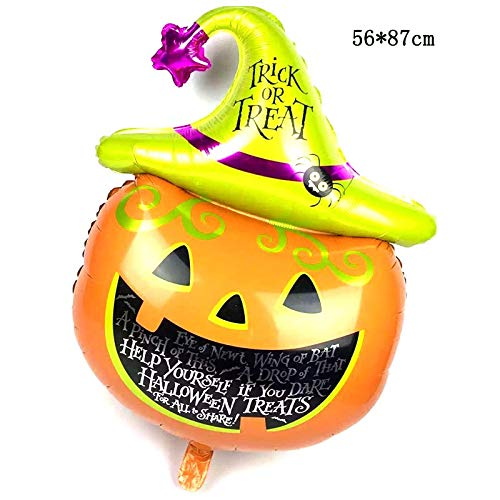 Lannmart New 1 pcs 10 Styles Black Cat Pumpkin Bat Skull Halloween Eve Foil Balloons Decor Inflatable Toys Helium Balloon Party Supplies