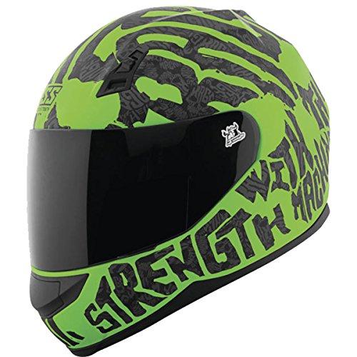 Green Motorcycle Helmet - 6