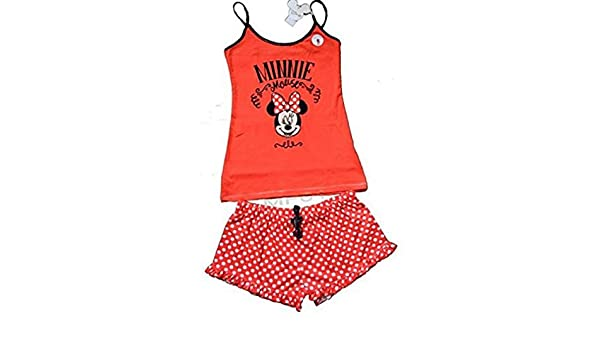Primark Ladies Girls Womens Disney Minnie Mouse RED CAMI Vest Shorts Pajamas Pyjamas PJ Set UK S-XL (UK XL 18-20) at Amazon Womens Clothing store: