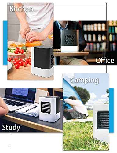 Anbber Portable Air Conditioner 4 in 1 Small Personal USB Air Cooler, Humidifier and Purifier, Desktop Cooling Fan with Breathing LED Night Light and 3 Speeds for Office Home Travel by Anbber (Image #6)