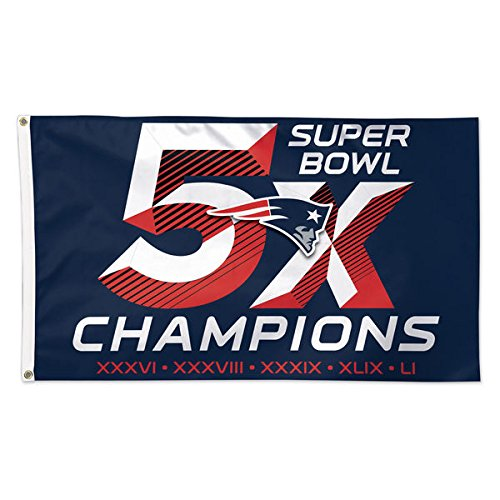New England Patriots 3 X 5 5 Time Super Bowl Champions Deluxe Flag